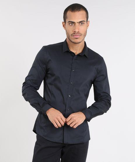 Camisa-Masculina-Super-Slim-Manga-Longa-Preta-9372459-Preto_1