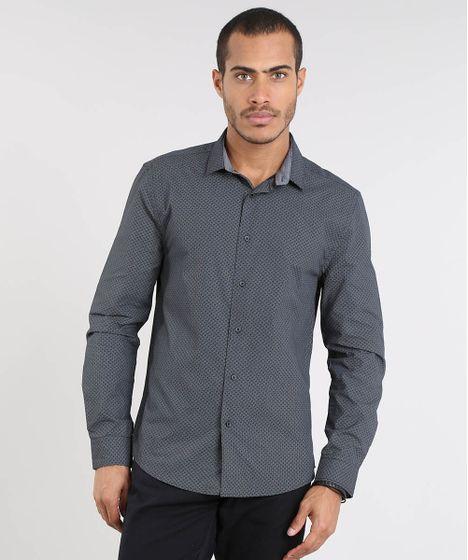 b58c37d9a8 Camisa-Masculina-Slim-Estampada-Manga-Longa-Preta-9372493- ...