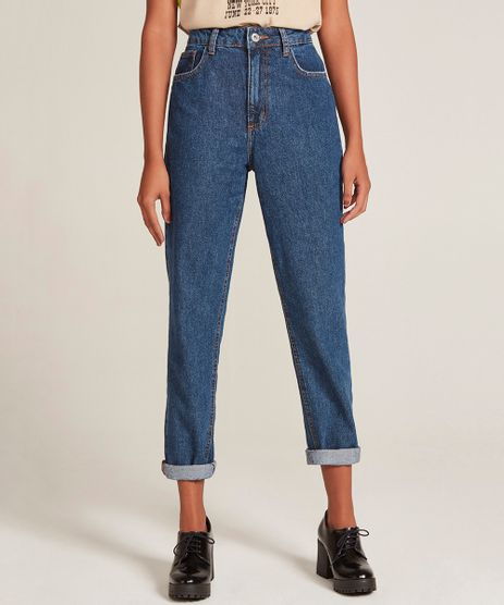 10d560ea2ef52 Calca-Jeans-Feminina-Mom-Pants-Azul-Escuro-9204361-