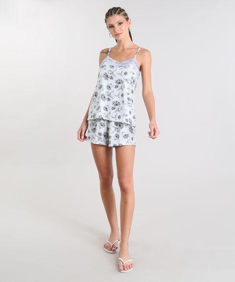 Short-Doll-Feminino-Estampado-Floral-com-Renda-Alca-Fina-Cinza-Mescla-9508005-Cinza_Mescla_1