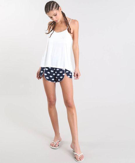 Short-Doll-Feminino-Estampado-de-Nuvens-com-Renda-Off-White-9514756-Off_White_1