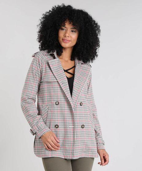 Casaco-Trench-Coat-Feminino-Estampado-Xadrez-com-Capuz-Cobre-9356338-Cobre_1
