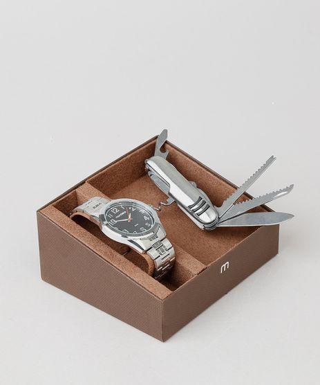 Kit-de-Relogio-Analogico-Mondaine-Masculino---Canivete---83456G0MVNE1KB-Prateado-9553685-Prateado_1