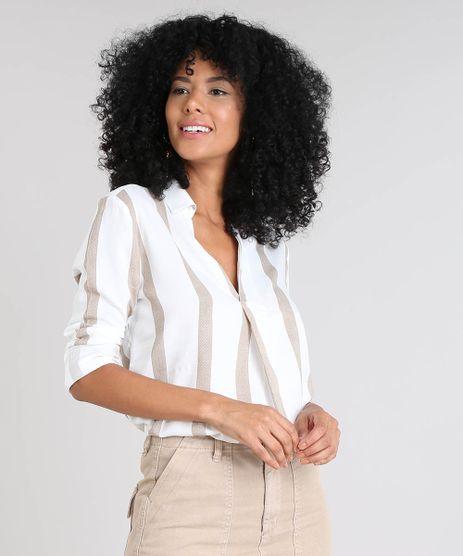 Camisa-Feminina-Listrada-Manga-Longa-Decote-V-Off-White-9485696-Off_White_1