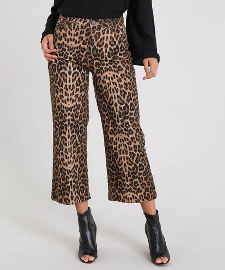 Calca-de-Sarja-Feminina-Pantacourt-Estampada-Animal-Print-Marrom-9539285-Marrom_1