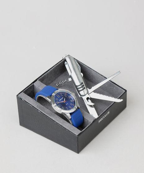 Kit-de-Relogio-Analogico-Seculus-Masculino---Canivete---23663G0SVNI1K-Azul-9553474-Azul_1