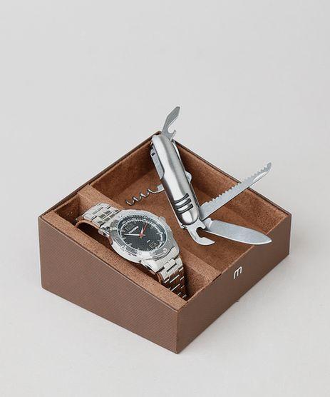 Kit-de-Relogio-Analogico-Mondaine-Masculino---Canivete---83454G0MVNE1K-Prateado-9553679-Prateado_1