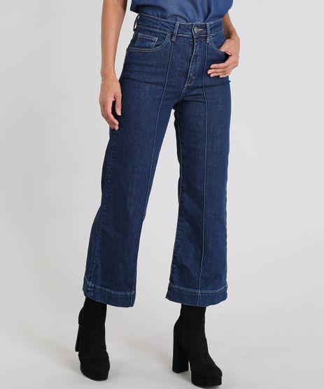 Calca-Jeans-Feminina-Pantacourt-com-Vinco-Azul-Escuro-9537699-Azul_Escuro_1