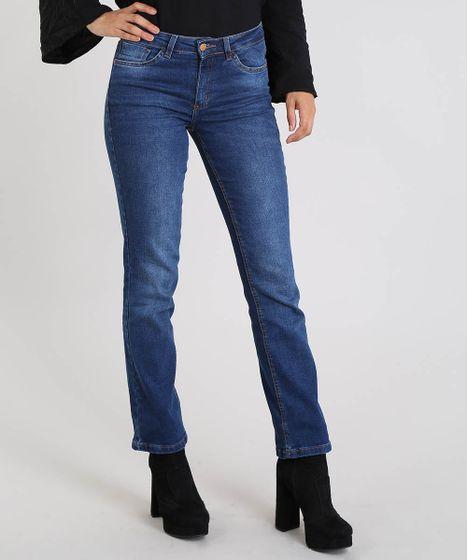 e636a4bd3 Calca-Jeans-Feminina-Reta-Azul-Medio-9553121-Azul_Medio_1 ...