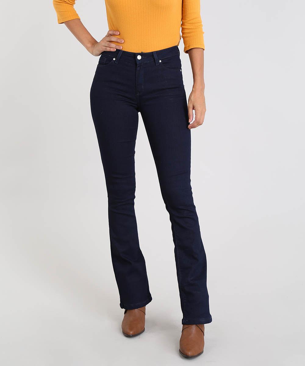5d6dad0e4 ... Calca-Jeans-Feminina-Boot-Cut-Azul-Escuro-9555346-