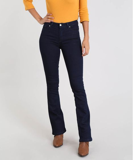 a41bdc91c Calca-Jeans-Feminina-Boot-Cut-Azul-Escuro-9555346- ...