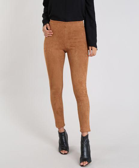 Calca-Legging-Feminina-em-Suede-Caramelo-9543571-Caramelo_1