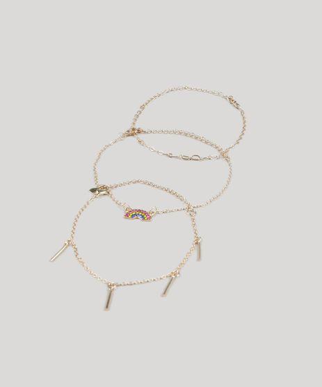 Kit-de-3-Pulseiras-Femininas-Arco-Iris-Dourado-9436001-Dourado_1