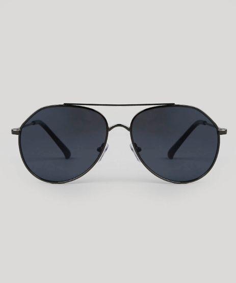 b9abb465d681e Oculos-de-Sol-Aviador-Feminino-Oneself-Grafite-9566229-