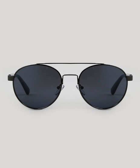 92cd18464a086 Oculos-de-Sol-Redondo-Feminino-Oneself-Grafite-9566217-
