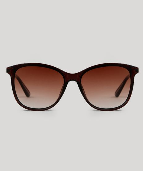 b6722e4597884 Oculos-de-Sol-Redondo-Feminino-Oneself-Marrom-9566254-