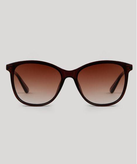 74b27cddc Oculos-de-Sol-Redondo-Feminino-Oneself-Marrom-9566254- ...