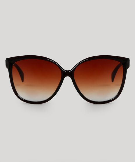 07bb624d1b520 Oculos-de-Sol-Redondo-Feminino-Oneself-Marrom-9553928-
