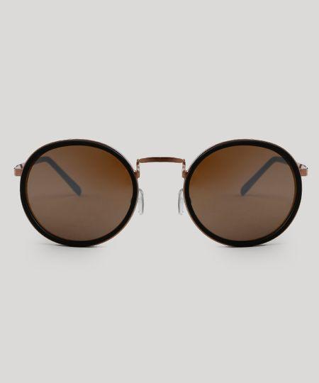 a0d1c9f07 Óculos de Sol Redondo Feminino Oneself Rosê - Único   Menor preço ...