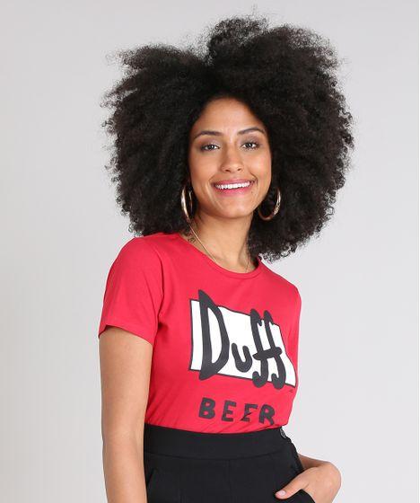 e4986dc13 Blusa Feminina Duff Beer Os Simpsons Manga Curta Decote Redondo ...