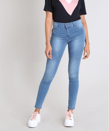 e807984eb Calca-Jeans-Feminina-Super-Skinny-Energy-Jeans-Azul-. Algodao Mais  Sustentavel