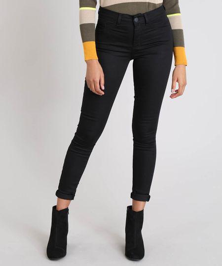 2e65c468a Calça Feminina Super Skinny Energy Jeans Preta - cea