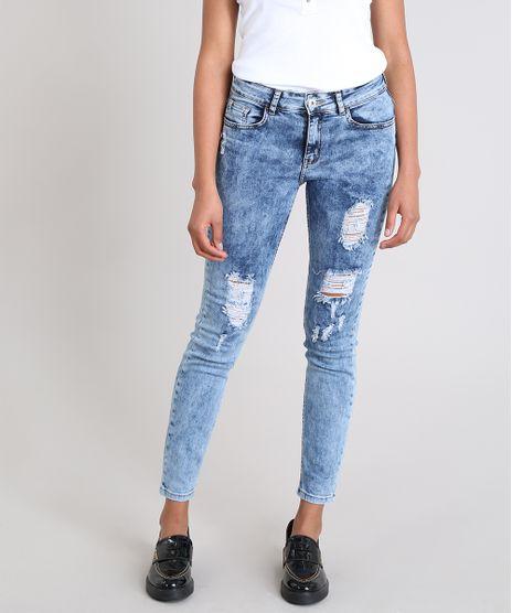 Calca-Jeans-Feminina-Skinny-Destroyed-Azul-Medio-9538027-Azul_Medio_1
