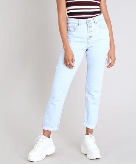 Calca-Jeans-Feminina-Mom-com-Botoes-Azul-Claro-9554334-Azul_Claro_1