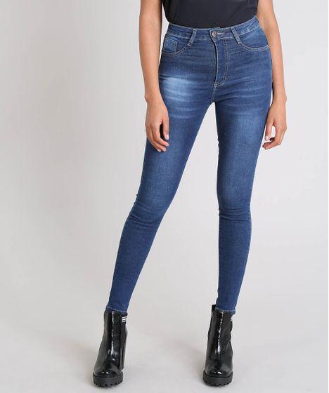 ebbdcd0b0d Calça Jeans Feminina Sawary Sculp Super Skinny Azul Escuro - cea