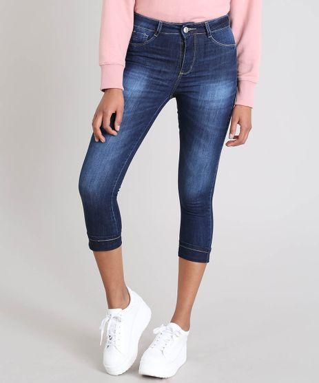 Calca-Jeans-Feminina-Sawary-Cigarrete-com-Lurex-Azul-Escuro-9543135-Azul_Escuro_1