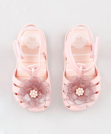 Sandalia-Infantil-Zaxy-Nina-com-Flor-e-Glitter-Rose-9309741-Rose_1