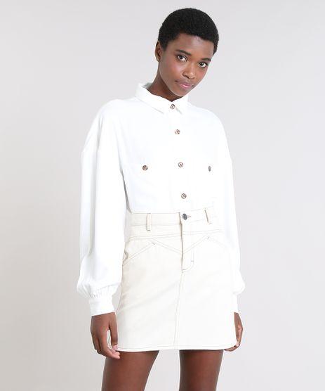 Camisa-Feminina-Mindset-Ampla-com-Bolsos-Manga-Longa-Off-White-9537542-Off_White_1
