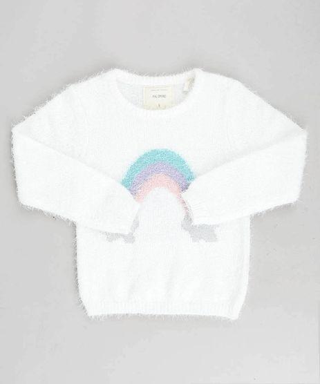 Sueter-Infantil-em-Trico-Felpado-Arco-Iris-Off-White-9366976-Off_White_1
