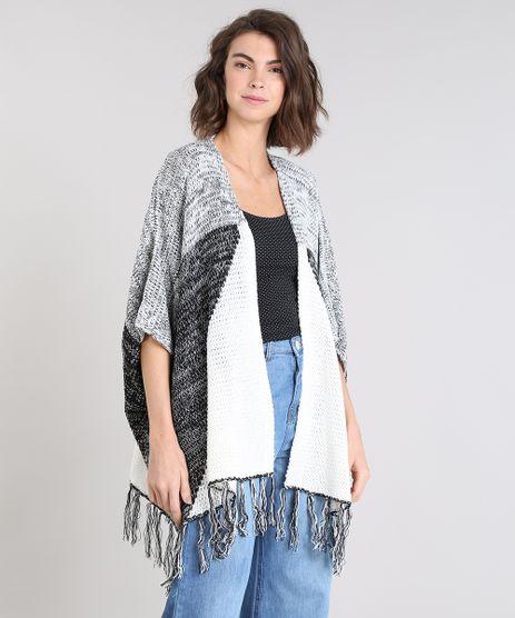 Kimono-Feminino-Estampado-Geometrico-em-Trico-com-Franjas-Manga-3-4-Off-White-9377913-Off_White_1