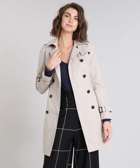 Casaco-Trench-Coat-Feminino-Transpassado-com-Bolsos-Bege-Claro-9362073-Bege_Claro_1