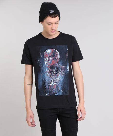 Camiseta-Masculina-Capitao-America-Manga-Curta-Decote-Redondo-Preta-9559925-Preto_1