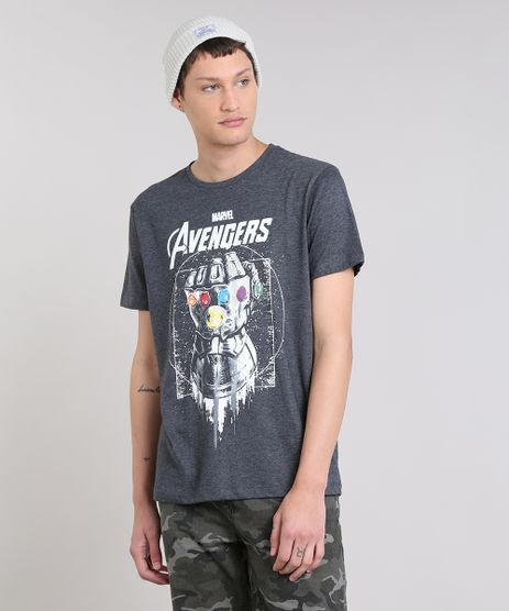Camiseta-Masculina-Os-Vingadores-Manopla-do-Infinito-Curta-Decote-Redondo-Cinza-Mescla-Escuro-9303777-Cinza_Mescla_Escuro_1