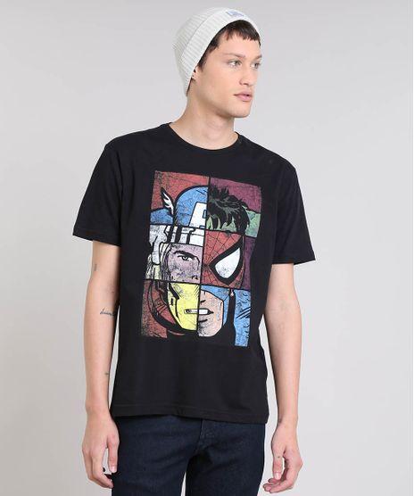 Camiseta-Masculina-Os-Vingadores-Manga-Curta-Gola-Careca-Preta-9559919-Preto_1