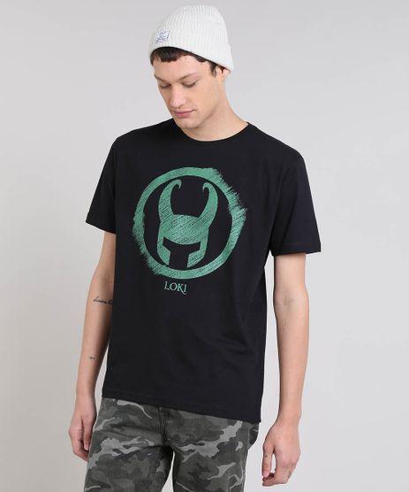 5cc89d2e3 Camiseta-Masculina-Loki-Manga-Curta-Gola-Careca-Preta-