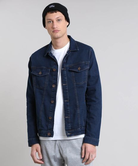 Jaqueta-Jeans-Masculina-com-Bolsos-Azul-Escuro-9524596-Azul_Escuro_1