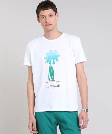 Camiseta-Masculina-com-Estampa-de-Coqueiro-Manga-Curta-Gola-Careca-Branca-9449333-Branco_1