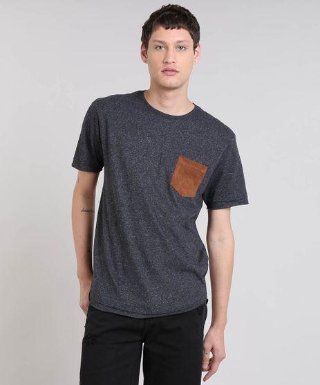 Camiseta-Masculina-Botone-com-Bolso-Manga-Curta-Gola-Careca-Cinza-Mescla-Escuro-9460149-Cinza_Mescla_Escuro_1