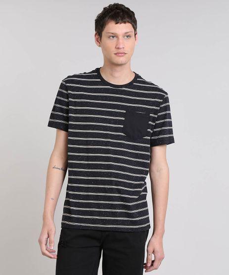 Camiseta-Masculina-Botone-Listrada-Manga-Curta-Gola-Careca-Preta-9448990-Preto_1