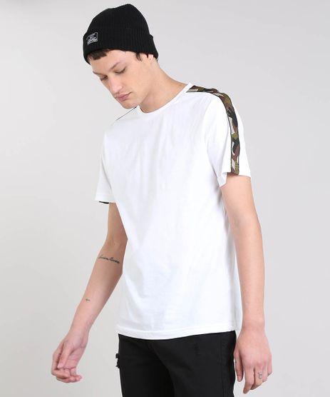 Camiseta-Masculina-com-Recorte-Estampado-Camuflado-Manga-Curta-Gola-Careca-Branca-9460151-Branco_1