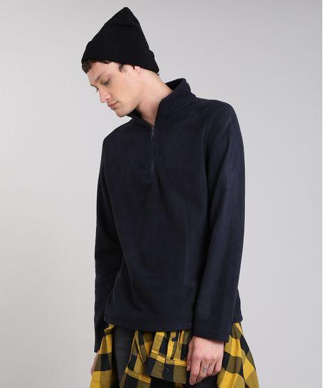 Blusao-Masculino-Basico-em-Fleece-com-Ziper-Preto-9335089-Preto_1