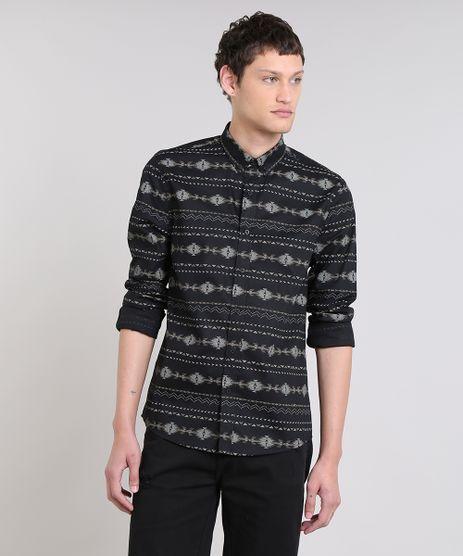 Camisa-Masculina-Estampada-Etnica-Manga-Longa-Preta-9470106-Preto_1
