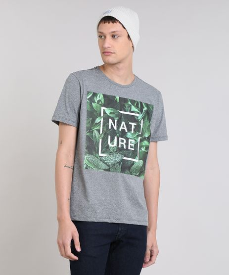 Camiseta-Masculina--Nature--Manga-Curta-Gola-Careca-Cinza-Mescla-9306067-Cinza_Mescla_1