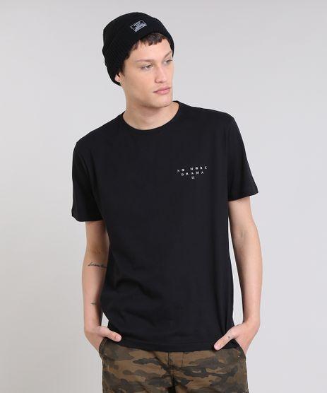 Camiseta-Masculina--No-more-drama--Manga-Curta-Gola-Careca-Preta-9447032-Preto_1