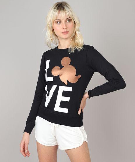 Blusao-Feminino-Mickey--Love--em-Moletom--Preto-9519910-Preto_1