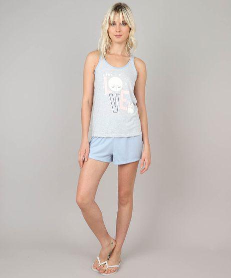 Pijama-Feminino--Little-Love--Cinza-Mescla-Claro-9514755-Cinza_Mescla_Claro_1